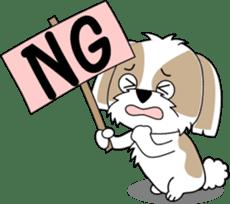 Cute Shih Tzu dog sticker #6275409