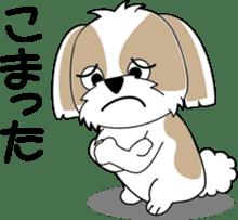 Cute Shih Tzu dog sticker #6275418