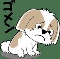 Cute Shih Tzu dog sticker #6275419