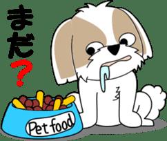 Cute Shih Tzu dog sticker #6275421