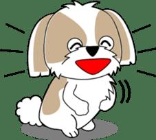Cute Shih Tzu dog sticker #6275425