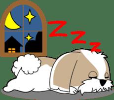 Cute Shih Tzu dog sticker #6275430