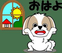 Cute Shih Tzu dog sticker #6275431