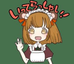 animal maidcafe sticker #6287219