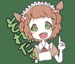 animal maidcafe sticker #6287243