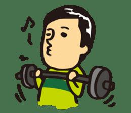 Japanese boy. His name is Shigeru sticker #6293347