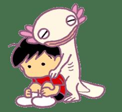 UPAZO the axlotol - mild life sticker #6293393