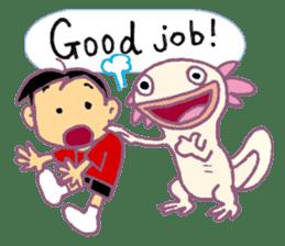 UPAZO the axlotol - mild life sticker #6293395