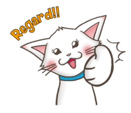 Meany cat Cass for English sticker #6298154