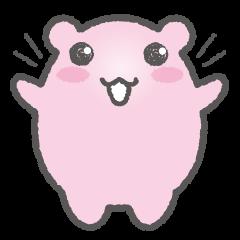 Pink Hamster Mofu-mofu