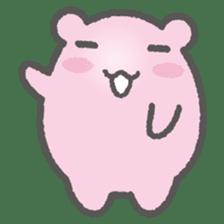 Pink Hamster Mofu-mofu sticker #6300544