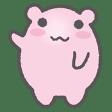Pink Hamster Mofu-mofu sticker #6300545