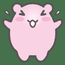 Pink Hamster Mofu-mofu sticker #6300546