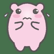 Pink Hamster Mofu-mofu sticker #6300547