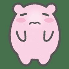 Pink Hamster Mofu-mofu sticker #6300549