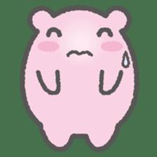Pink Hamster Mofu-mofu sticker #6300550