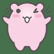 Pink Hamster Mofu-mofu sticker #6300554