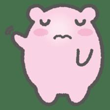 Pink Hamster Mofu-mofu sticker #6300556