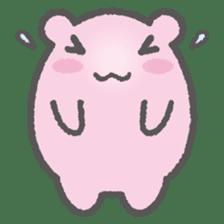 Pink Hamster Mofu-mofu sticker #6300557