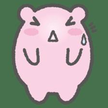 Pink Hamster Mofu-mofu sticker #6300558