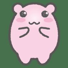 Pink Hamster Mofu-mofu sticker #6300560