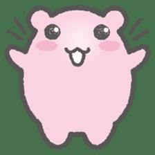 Pink Hamster Mofu-mofu sticker #6300561