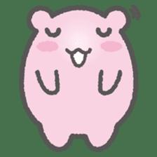 Pink Hamster Mofu-mofu sticker #6300562