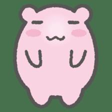 Pink Hamster Mofu-mofu sticker #6300565