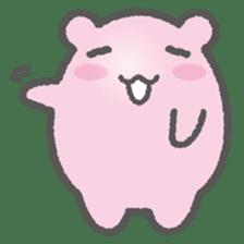 Pink Hamster Mofu-mofu sticker #6300566
