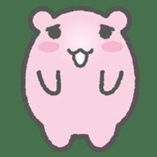 Pink Hamster Mofu-mofu sticker #6300569