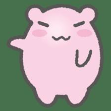 Pink Hamster Mofu-mofu sticker #6300570