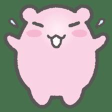Pink Hamster Mofu-mofu sticker #6300571