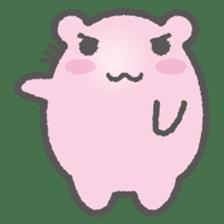 Pink Hamster Mofu-mofu sticker #6300572