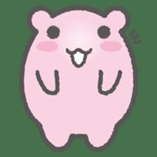 Pink Hamster Mofu-mofu sticker #6300573