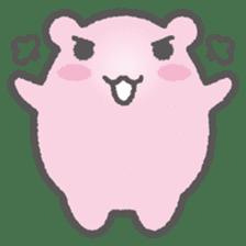 Pink Hamster Mofu-mofu sticker #6300574