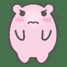 Pink Hamster Mofu-mofu sticker #6300575