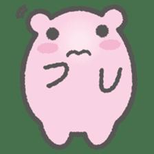 Pink Hamster Mofu-mofu sticker #6300579