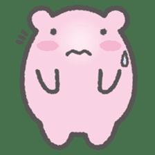 Pink Hamster Mofu-mofu sticker #6300582