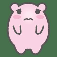 Pink Hamster Mofu-mofu sticker #6300583