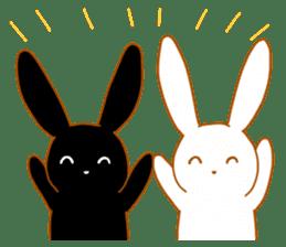 Good friends rabbits sticker #6305160