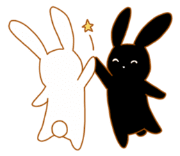 Good friends rabbits sticker #6305161
