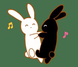 Good friends rabbits sticker #6305162