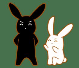 Good friends rabbits sticker #6305163
