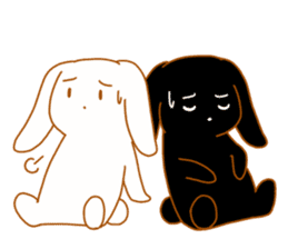 Good friends rabbits sticker #6305170