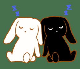 Good friends rabbits sticker #6305171