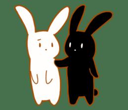 Good friends rabbits sticker #6305181