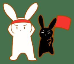 Good friends rabbits sticker #6305192