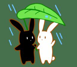 Good friends rabbits sticker #6305196