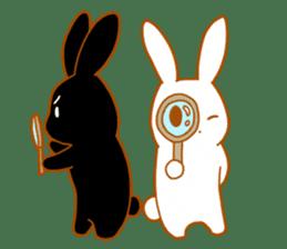 Good friends rabbits sticker #6305197