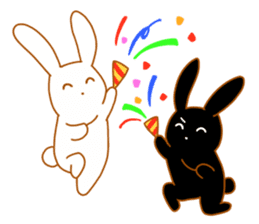 Good friends rabbits sticker #6305198